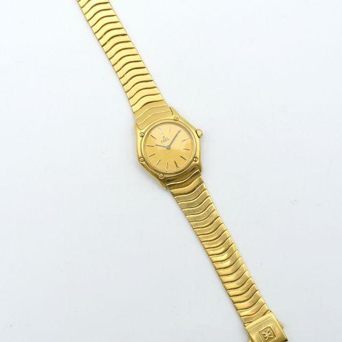 Bracelet montre dame en or jaune 18 ct EBEL quartz (montre n° 881908, déréglée, …