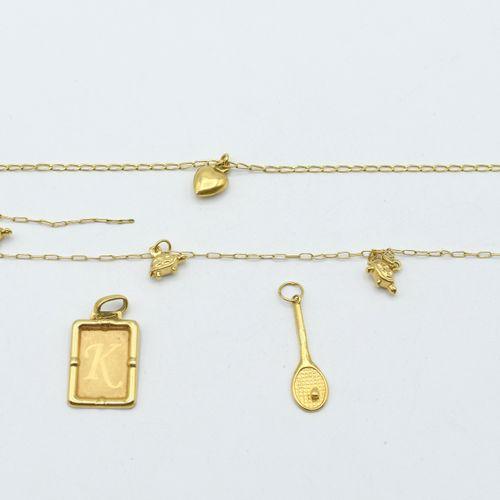 Bracelet avec pendentif attaché, bracelet avec 5 pendentifs attachés et 2 penden…