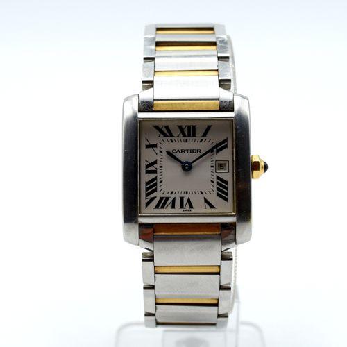 Reloj de señora con brazalete de acero y oro amarillo de 18 quilates CARTIER Tan…