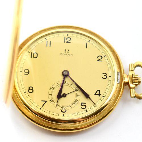 Montre de poche en or jaune 18 ct à 3 cuvettes dont 1 en métal OMEGA mécanique (…