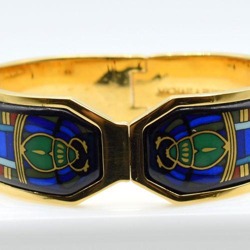 Bracelet rigide en métal MICHAELA FREY TEAM (légèrement abîmé) (6 x 5 cm) \nBesc…