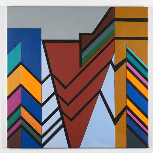 GUY VANDENBRANDEN (1926 2014) Abstract composition, 2000 Acrylic on canvas Signe…
