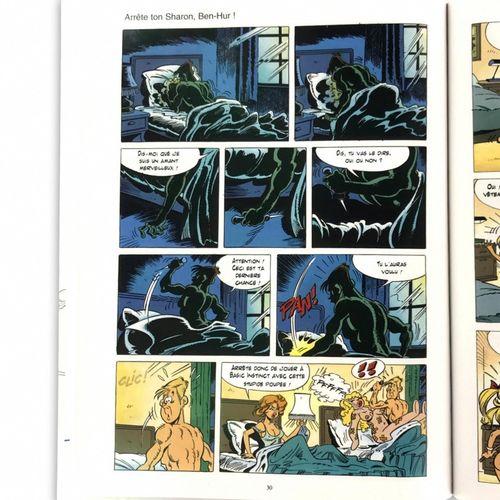 "MARTI Josep ""Stop your Sharon, Ben Hur! "" Original erotic plate with Chinese ink…"