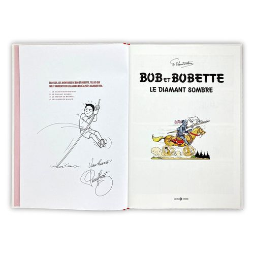 """VANDERSTEEN / DE GEERTS """" Bob et Bobette """" Set of volumes 1 and 2 Dedications.  …"""