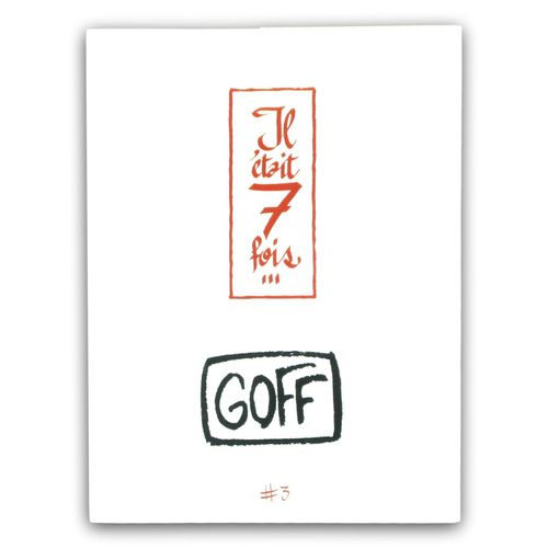 GOFF Portfolio There were 7 times... N°3  Limited edition portfolio of 77 number…