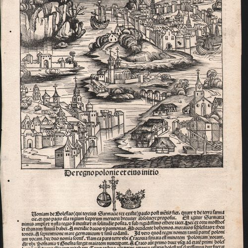 Nuremberg Chronicle 1493 The Polish Region / Description: De Sarmacia regione Eu…