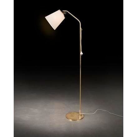 """PAAVO TYNELL A """"9613"""" floor lamp with fabric shade, designed by Paavo Tynell for…"""
