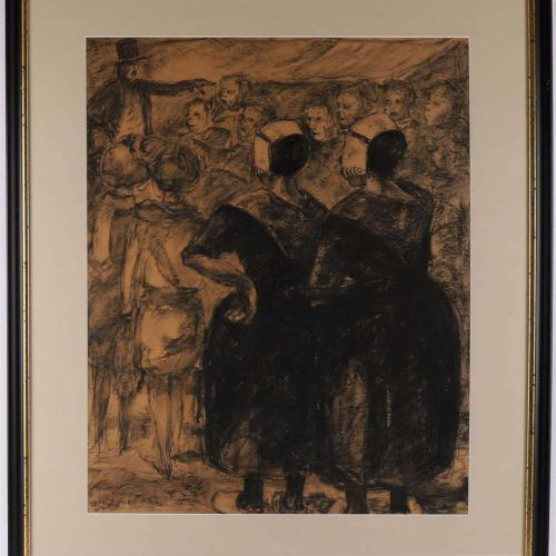 "Nijdam, Joop (1910 1982) ""Women in Staphorster costume"", triptych, signed b.L., …"
