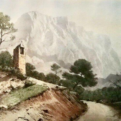DREVET (Joanny). Aix en Provence – [Montagne] Sainte Victoire. Absent à Beccatin…