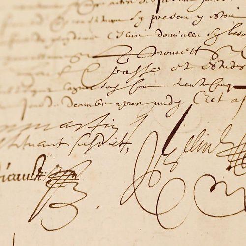 (ANNONAY ARDECHE) Procuration datée du 15 Décembre 1635. Pièce in folio. Donnée …