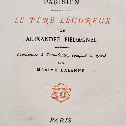 PIEDAGNEL (Alexandre). Un bouquiniste parisien : le Père Lécureux. Front. À l'ea…