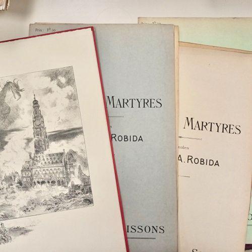 ROBIDA (A) Les Villes Martyres. Lithographies originales de A. ROBIDA. Paris, Ba…