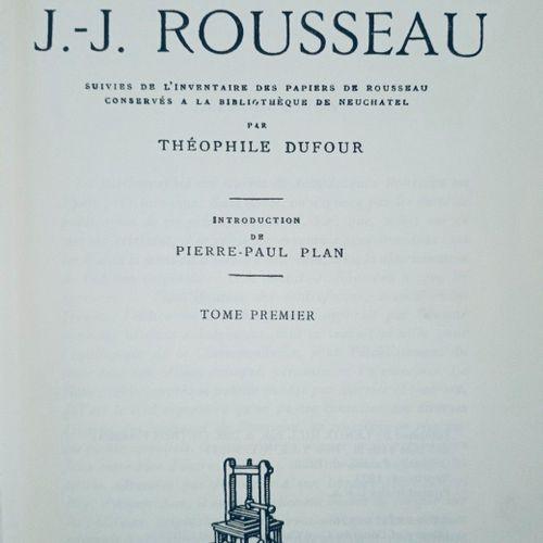 DUFOUR (Théophile) Recherches bibliographiques sur les œuvres imprimés de J. J. …