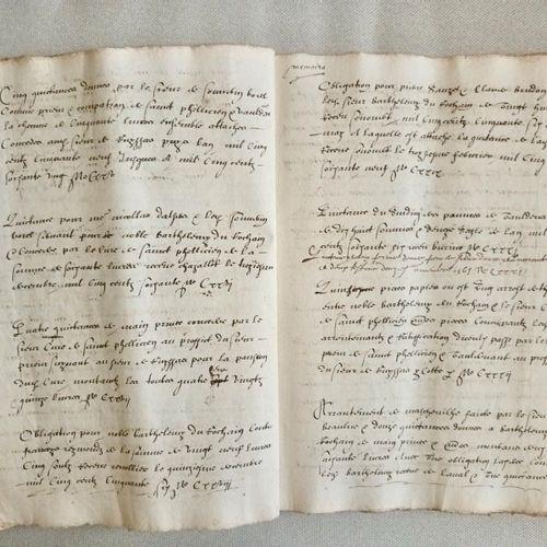 """(DROME BARONNIES) """"L'inventaire complet et détaillé d'un domaine agricole au XVI…"""