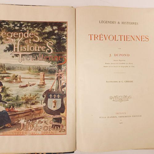 """DUPOND (J.). """"Légendes et Histoires Trévoltiennes. Illustrations de G. Giranne"""".…"""