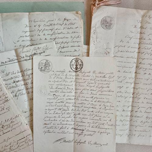 HAUTE LOIRE TENCE Important dossier, Premier Empire concernant la famille V. De …