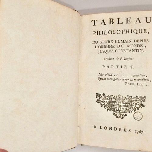 BORDE (Charles) & [VOLTAIRE]. Tableau philosophique du genre humain depuis l'ori…