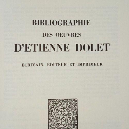 LONGEON (Claude) Bibliographie des oeuvres d'ETIENNE DOLET, écrivain, éditeur et…
