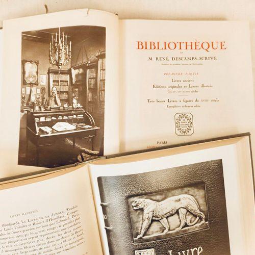 DESCAMPS SCRIVE (René). Bibliothèque de Mr René Descamps Scrive.Membre de plusi…
