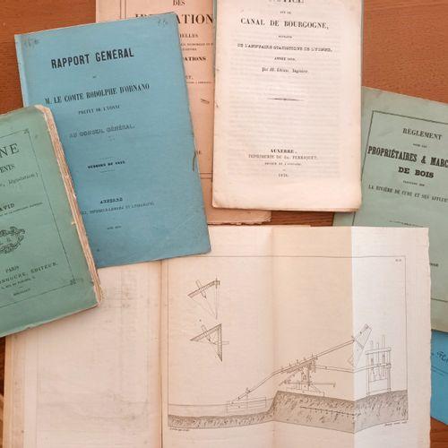 YONNE Navigation sur le Yonne Ensemble de 8 ouvrages ou plaquettes concernant la…