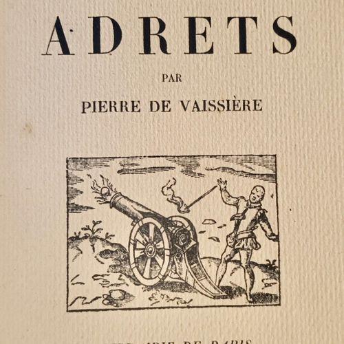 VAISSIERE (Pierre de) Les Baron des ADRETS. Paris, Firmin Didot, 1930. Petit in …