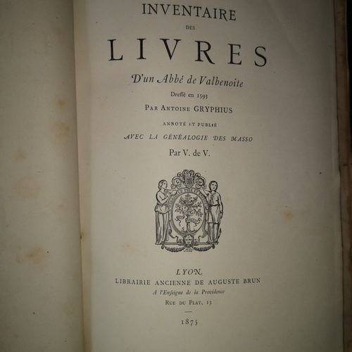 VALOUS (Vital de). Recueil de 14 plaquettes. Lyon, Brun, Vingtrinier, 1872 1882.…