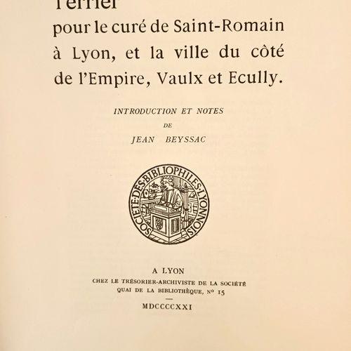 BEYSSAC (Jean) Terrier pour le Curé de Saint Romain à Lyon, et la ville du côté …