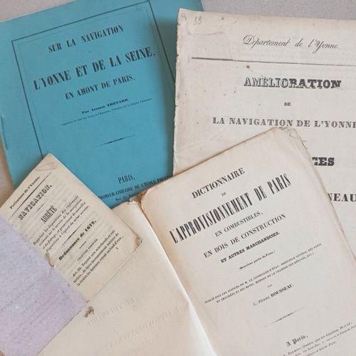 CANAUX DE BOURGOGNE NAVIGATION. Ensemble de 5 ouvrages, à savoir: Etudes statist…