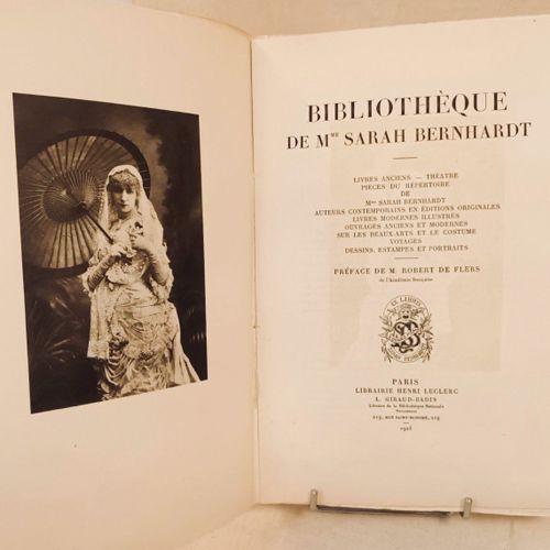 BERNHARDT (Sarah). Bibliothèque de Mme Sarah Bernhardt. Préface de M. Robert de …