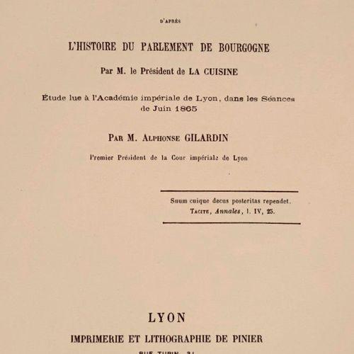 (Bourgogne) GILARDIN (Alphonse) Du rôle politique des Parlements d'aprés l'histo…