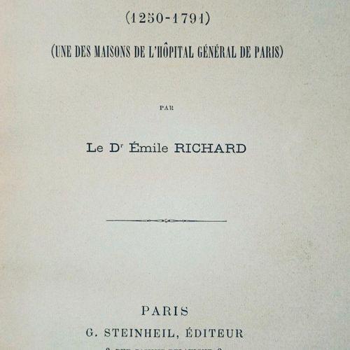 (PARIS) RICHARD (Emile) Histoire de l'Hôpital de BICETRE (1250 1791). Une des ma…