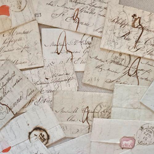 MARQUES POSTALES LOIRE RHONE Très intéressant ensemble de 20 lettres cachetés, a…