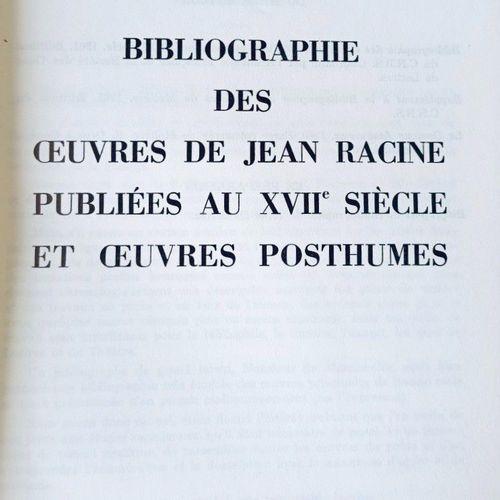 GUIBERT (Albert Jean) Bibliographie des oeuvres dde JEAN RACINE, publiées au XVI…