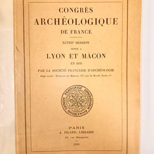 """WUILLEUMIER (Pierre). Lyon, Théâtre Romain de Fourvière. In """"Congrès archéologiq…"""