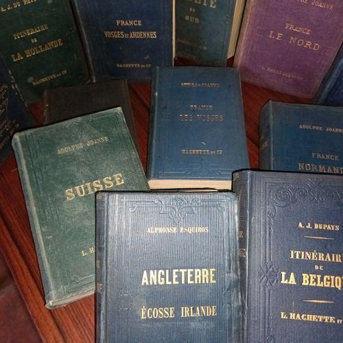 GUIDES JOANNE. Ensemble de 15 volumes. En percaline du temps.