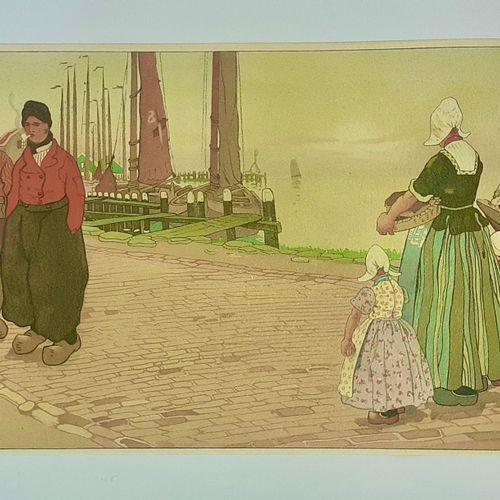 (FLANDRES) HENDRICK CASSIERS, peintre et graveur belge (1858 1944) Très belle ép…