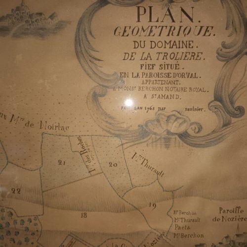 CHER PLAN GEOMETRIQUE du Domaine de la Trliere, Fief situé en la Paroisse d'ORVA…