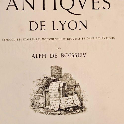 BOISSIEU (Alphonse de). Inscriptions antiques de Lyon reproduites d'après les mo…