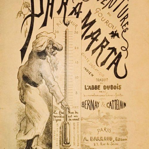 DUBOIS Abbé Aventure du Gourou Paramarta Paris A. Barraud 1877. In 8, en demi ma…