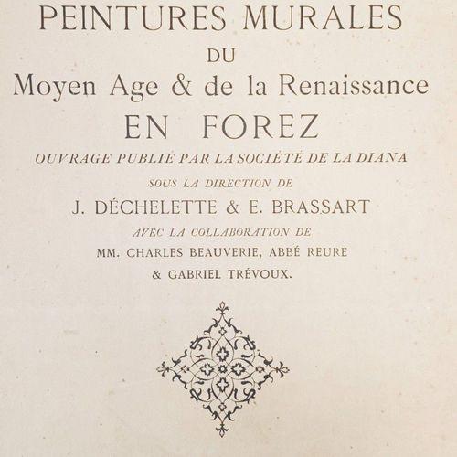 DECHELETTE (Joseph) & BRASSART (Eleuthère). Les Peintures murales du Moyen Age e…
