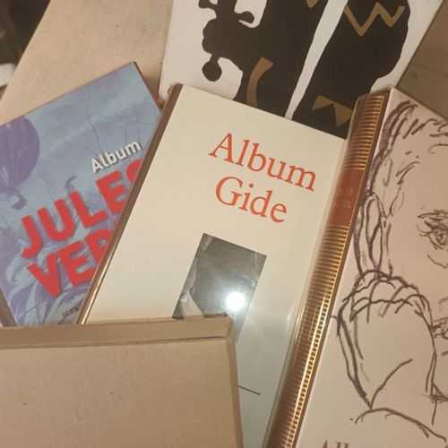 LA PLEIADE Reunion de 5 albums iconographiques de cette célebre collection: Albu…