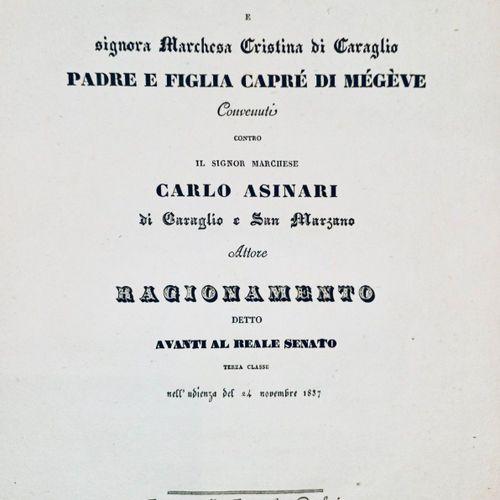 SAVOIE MEGEVE. Ragionamento per S. E. Il Signor Conte Eugenio e Sig. Marchesa Cr…