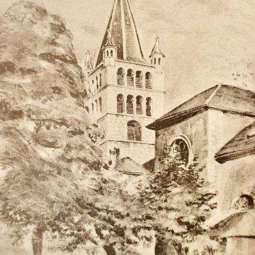 VAILLAT (Léandre). Paysages d'Annecy. Dessins d'André Jacques. Chambéry, Librair…