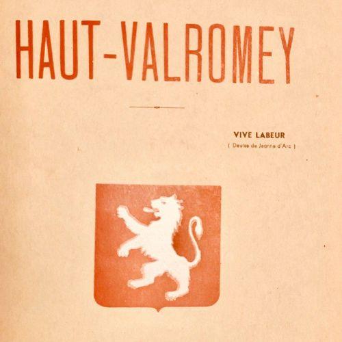 ROUSSET (Abbé). Esquisse historique sur le Haut Valromey suivie d'une notice sur…