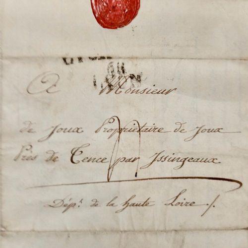 PREMIER EMPIRE LOIRE. Très belle lette autographe, signée Ms. De Fisicat, faisan…