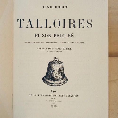 RODET (Henri). Talloires et son Prieuré. Edition ornée de 58 vignettes dessinées…