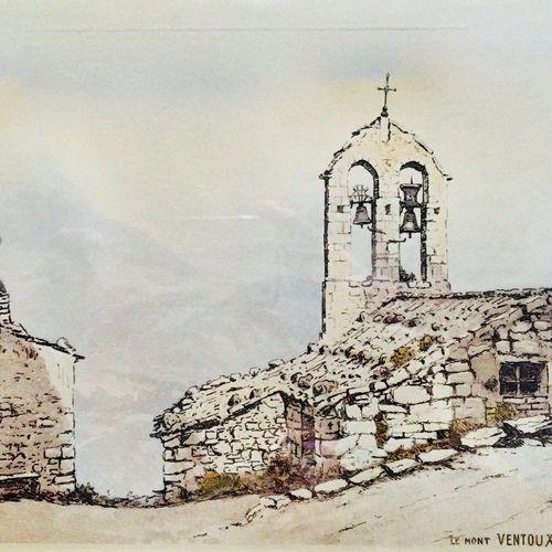 DREVET (Joanny). Mont Ventoux et Chapelle de Suzette. Becc. 242, 19 x 28 cm, enc…