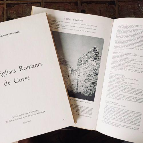(Corse) MORACCHINI MAZEL (Geneviève) Les Eglises Romanes de CORSE. Paris, CNRS, …