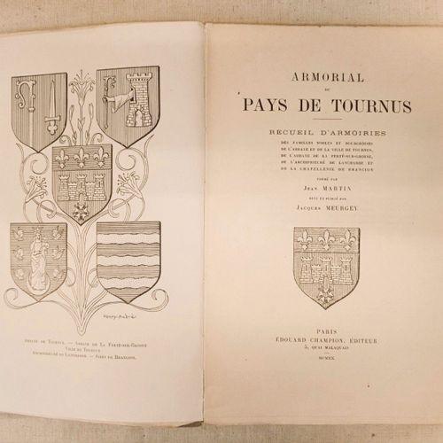 MARTIN (Jean) et Jacques MEURGEY. Armorial du Pays de Tournus, recueil d'armoiri…