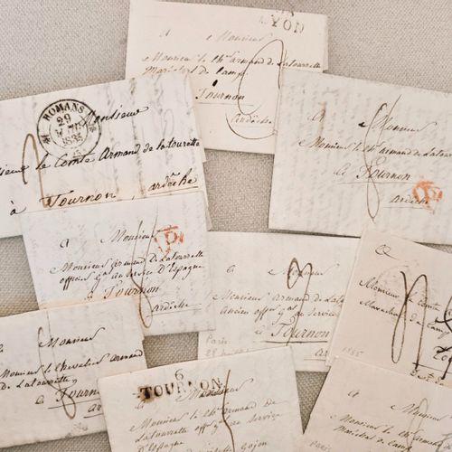Marques postales VIVARAIS. Ensemble de marques postales, correspondance adressée…